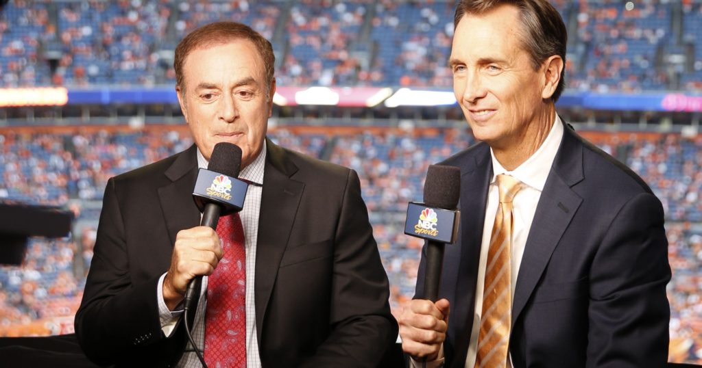 Cris Collinsworth and Al Michaels