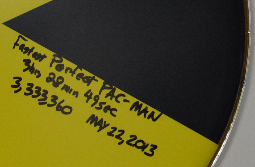 Dave Race record signed Pac-Man