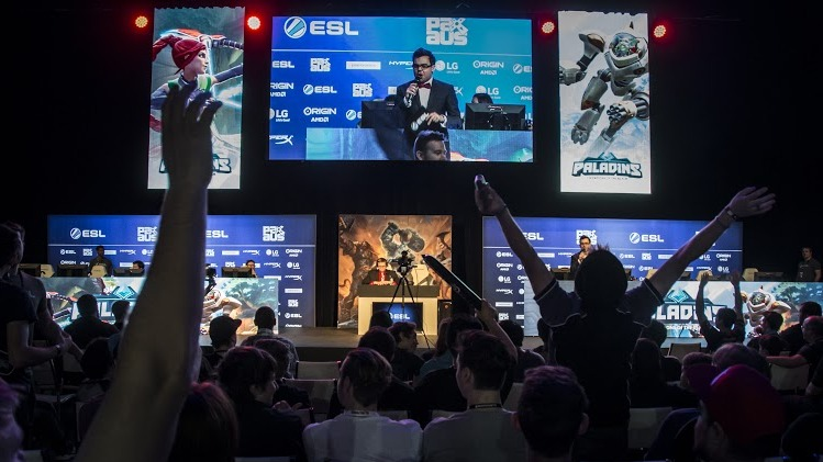 Paladins Tournament in ESL Arena at PAX Australia