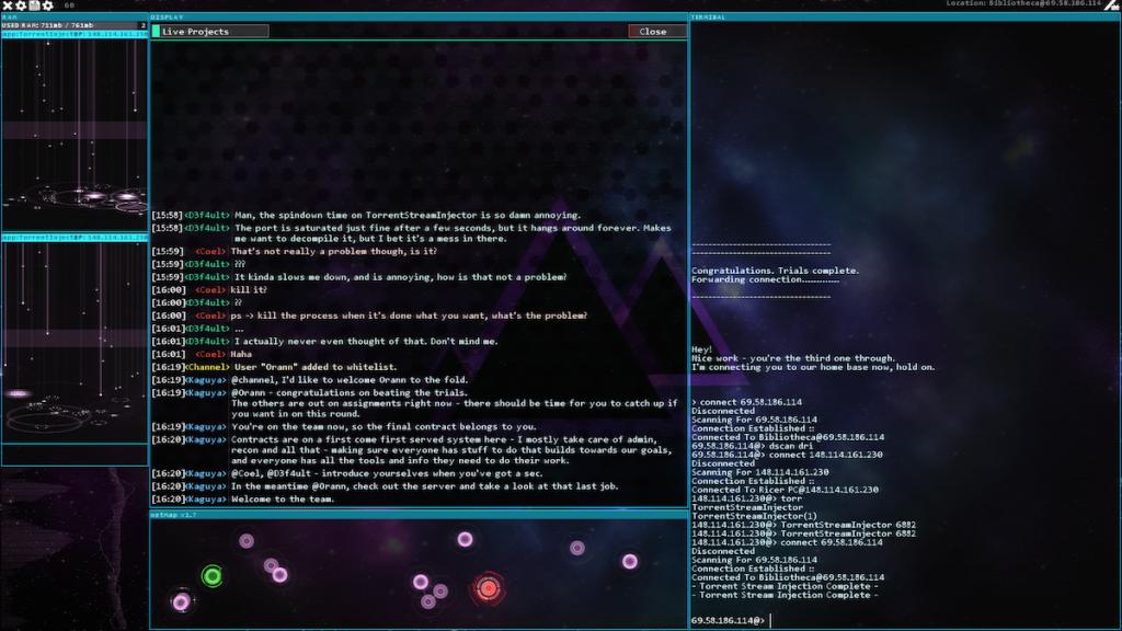 Hacknet Labyrinths IRCSCreen